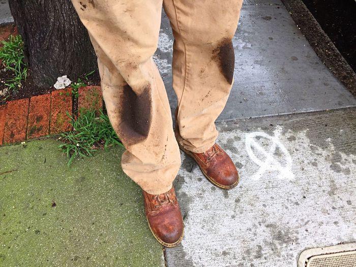 Gardening Gardener Muddy Muddy Pants Dirty Knees Work Boots Work Clothes Georgia Boots Carhartt