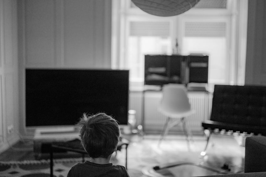 At Home Little Boy Blackandwhite Leica M9-P Living Room Portrait From Behind Tv EyeEmNewHere Creative Space The Portraitist - 2018 EyeEm Awards