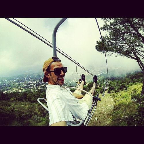 Took the sketchy gondola up to the top of anacapri , apparently the ceaser would throw people off the cliff if he didnt like you Dontpissoffceaser Gondola Capriisland Thegrandexplorationdechancho gopro hdhero3