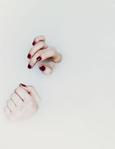 White Nails Photography Art