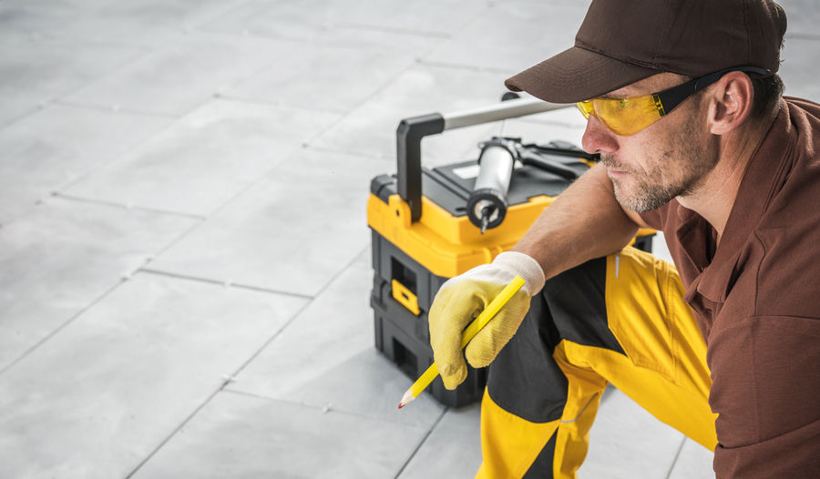 Man working on street