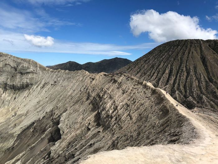 Arid Climate Beauty In Nature Bromo Climate Cloud - Sky Environment Geology Idyllic Land Landscape Mountain Mountain Range Nature No People Non-urban Scene Outdoors Physical Geography Rock Scenics - Nature Sky Tranquil Scene Tranquility Volcanic Crater Volcanic Landscape Volcano