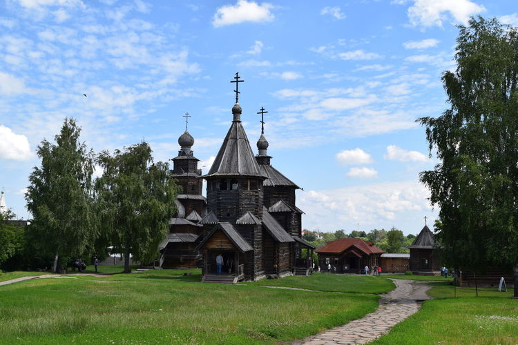 Architecture Built Structure Building Plant Grass Building Exterior Sky Tree Religion Belief Place Of Worship Cloud - Sky Spirituality Nature Day House Field No People Outdoors Church Architecture Historical Building Rural Scene Russia Religious Architecture Ortodox Church