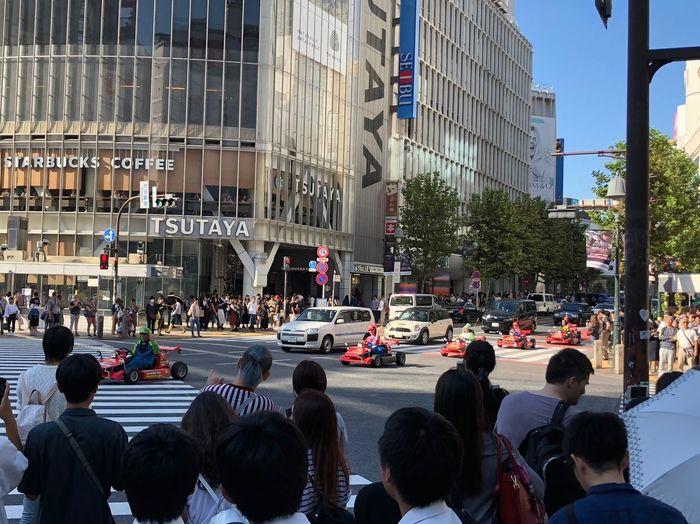 What else would you do in Tokyo? Mode Of Transportation Shibuya Shibuyacrossing Large Group Of People Tourist Destination Mario Cart