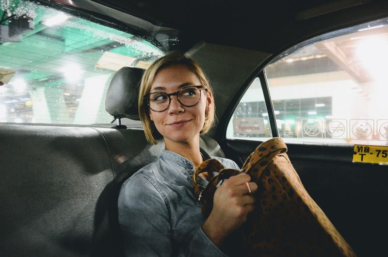 Taxi Thailand Car Car Interior Day Eyeglasses  Front View Glasses Holding Indoors  Land Vehicle Leisure Activity Lifestyles Looking At Camera Mature Adult Mature Women One Person People Portrait Real People Smiling Transportation Young Adult Young Women Fresh On Market 2017