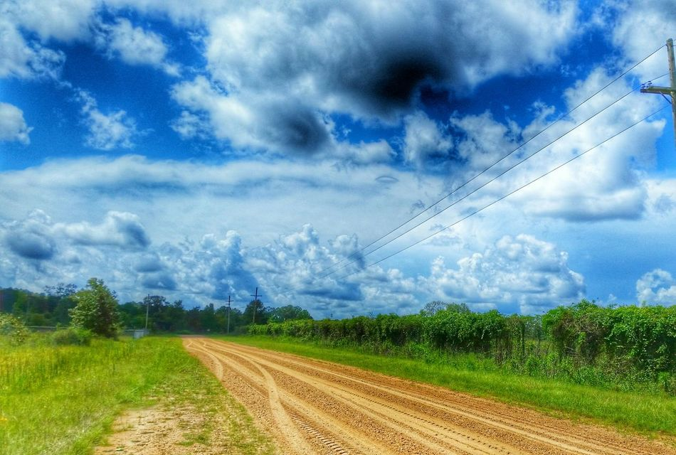 Cloudy Summer Day Outside Photography Blue Sky Mississippi Summer
