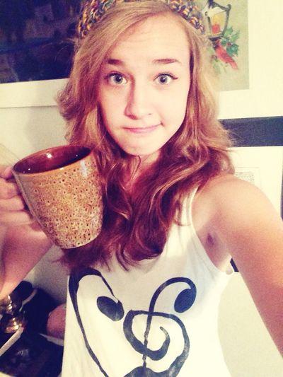 Morning c: Coffee Morning Selfie
