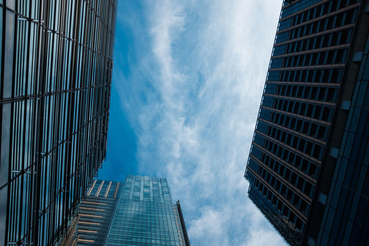 Architecture Building Exterior Built Structure City Cloud - Sky Commercial Commercial District Day Downtown District Low Angle View No People Outdoors Sky Skyscraper