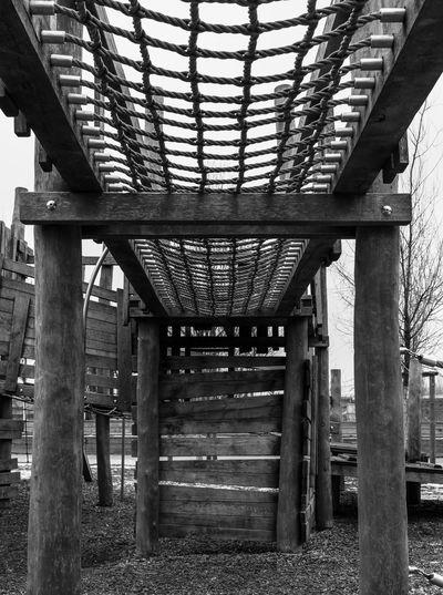 Berlin Blackandwhite City Life Day Daytime Kreuzberg Monochrome No People Playground Schwarzweiß Spielplatz