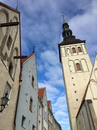 Tallinn Blue Sky Architecture Walking Around Baltics2k16