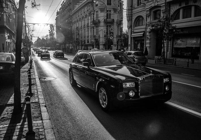 Car Taking Photos Hanging Out Rolsroyce Mafia  B&w Photography