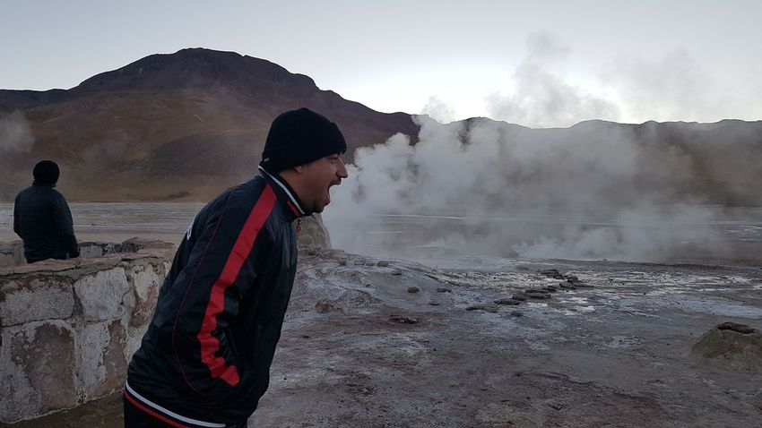 Geizer, Atacama. Chile One Man Only Steam Heat - Temperature Outdoors Day Nature Geizer Atacama Desert Atacama / Chile 🇨🇱 Perspectives On Nature