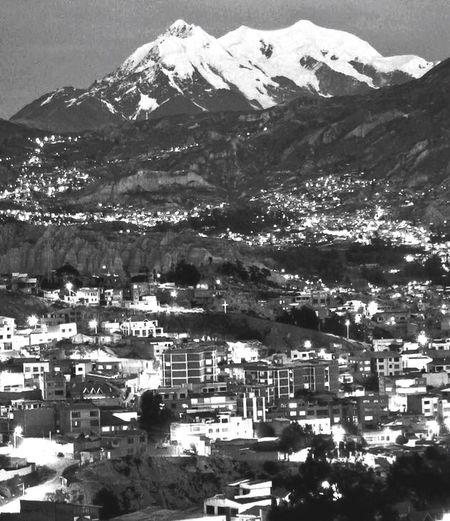 Illimani Cordillera De Los Andes Mountain Lapaz