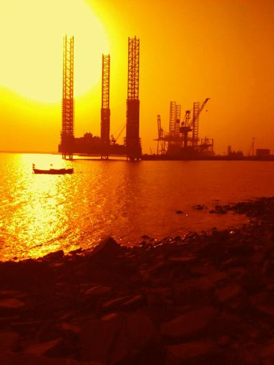 Sea And Rocks Sea And Sunset Sea And Machines, Orange Sky Orange Sea The KIOMI Collection