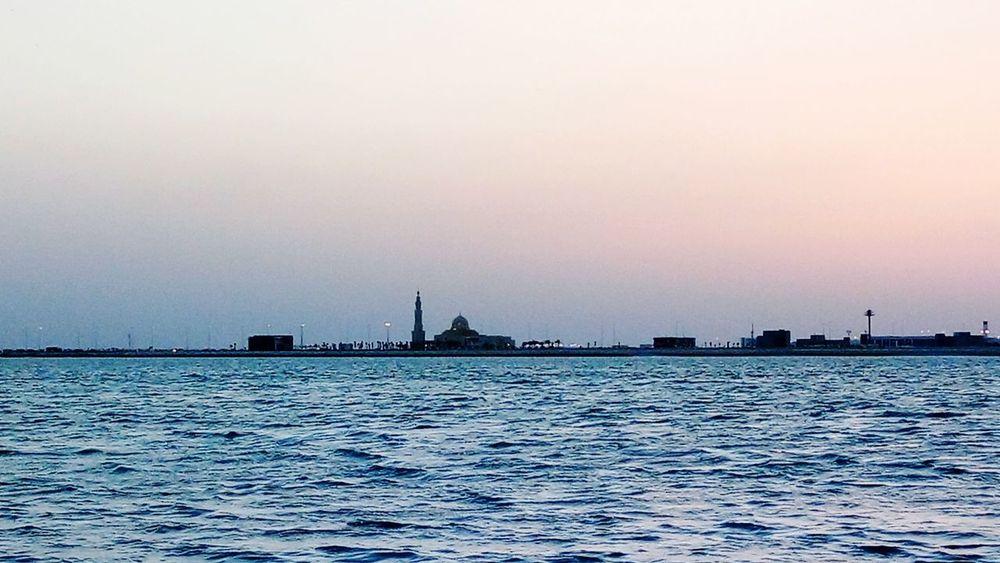Sea Water Sunset Architecture Urban Skyline Bahrain Bahrain Tourism