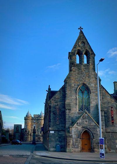 Holyrood Palace Edinburgh Scotland Built Structure Building Exterior Architecture Sky Religion Spirituality Place Of Worship Building Nature