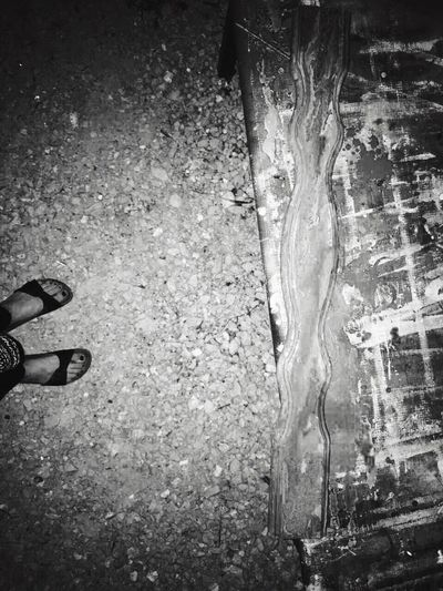 Toes Human Leg Human Body Part Low Section One Person Nightphotography Nihgt Table Desk Outdoors Blackandwhite Black & White Black And White Photography Board Paint Painting With Acrylic