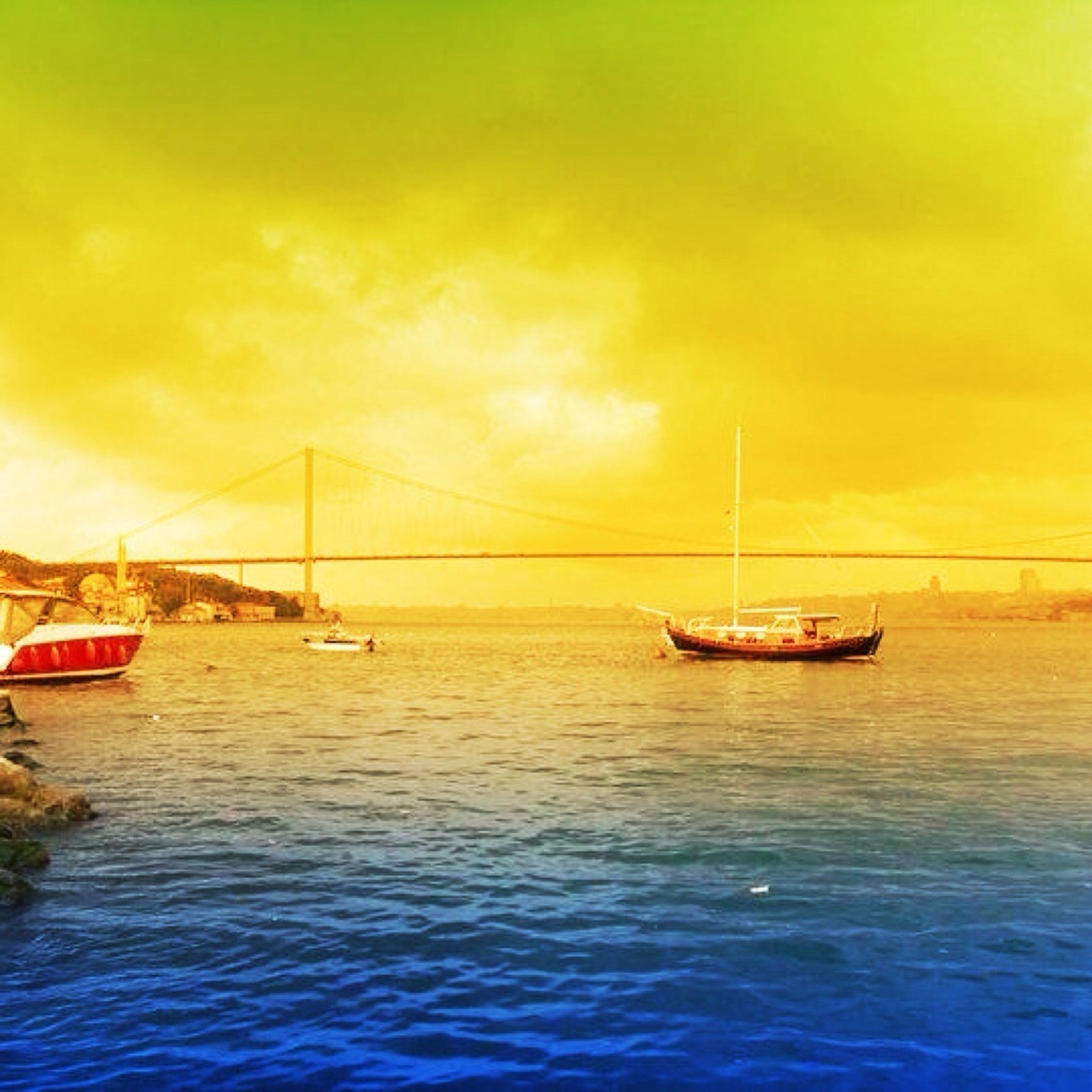 transportation, nautical vessel, mode of transport, boat, water, waterfront, sunset, sea, sailing, sky, beauty in nature, scenics, nature, travel, tranquility, tranquil scene, cloud - sky, orange color, journey, rippled