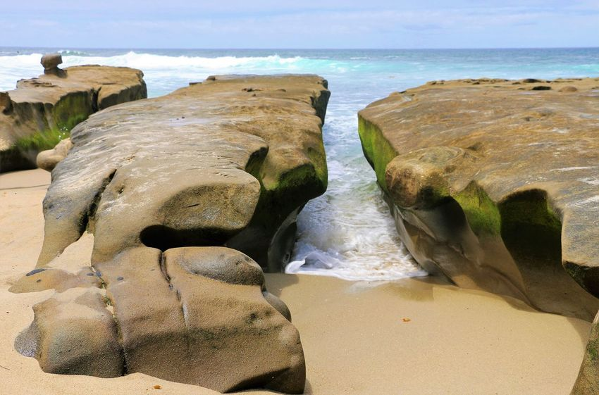 Beach Photography Been There. Daytime La Jolla Beach La Jolla, California Nature Rocky Beach San Diego Sunny Beach Beauty In Nature Been There, Done That La Jolla Nature No People Ocean Outdoors Rock - Object Scenics Sea Tranquil Scene Tranquility Water Waves Waves And Rocks