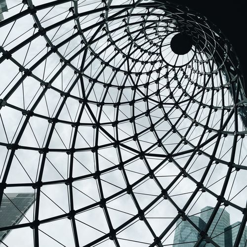 Low Angle View Indoors  Ceiling Pattern Built Structure Architecture No People Day Modern Architectural Design Sky