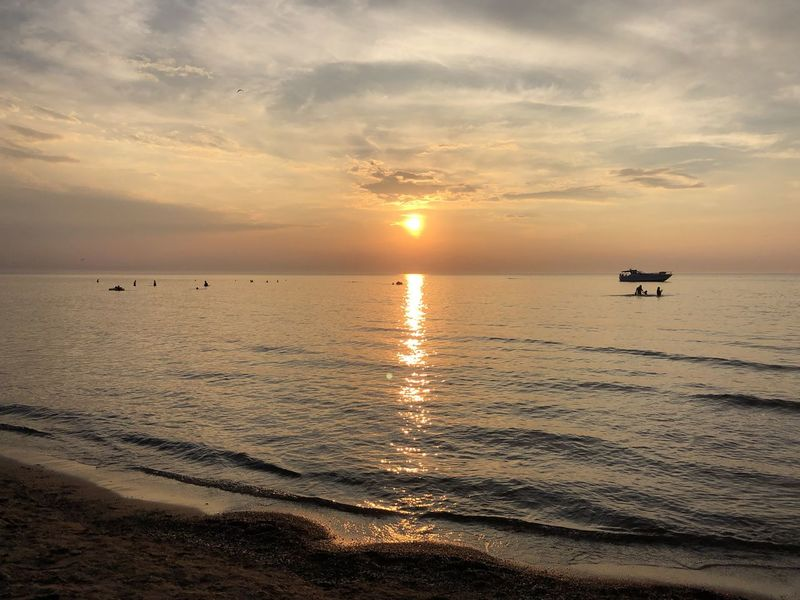 Sunset Peaceful View Setting Sun Beach Beauty In Nature Cloud - Sky Evening Glow Evening Sky Horizon Over Water Idyllic Nature Orange Color Outdoors Port Dalhousie Reflection Scenics - Nature Serene Outdoors Shoreline Beach Sky Sun Sunset Tranquil Scene Tranquility Water The Great Outdoors - 2018 EyeEm Awards