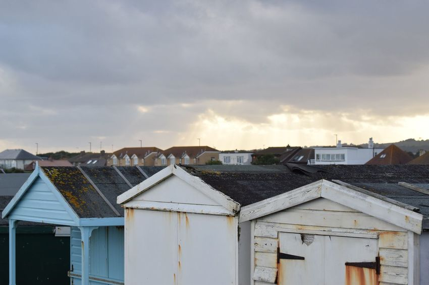 Shoreham beach huts Architecture Outdoors House Sky Day Roof Lancing  Summer Nature Widewaters Shoreham Beach Beach Huts Sun Clouds Sun Through The Clouds Character Quirky Rust