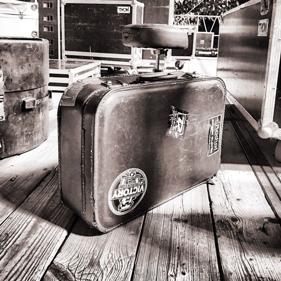 Wood - Material Indoors  No People Day Close-up Lagguage Stage Bag Suitcase Vintage Blackandwhite