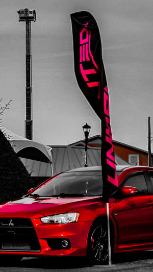 Lovephotography  Mitsubishi Evo Evo Life Beutiful Red Color Arkansas Lifestyles El Salvador 🇸🇻 Photography The Light Beam Rider. Super Car Sky Dream City Red Police Force Flag Car Architecture Building Exterior