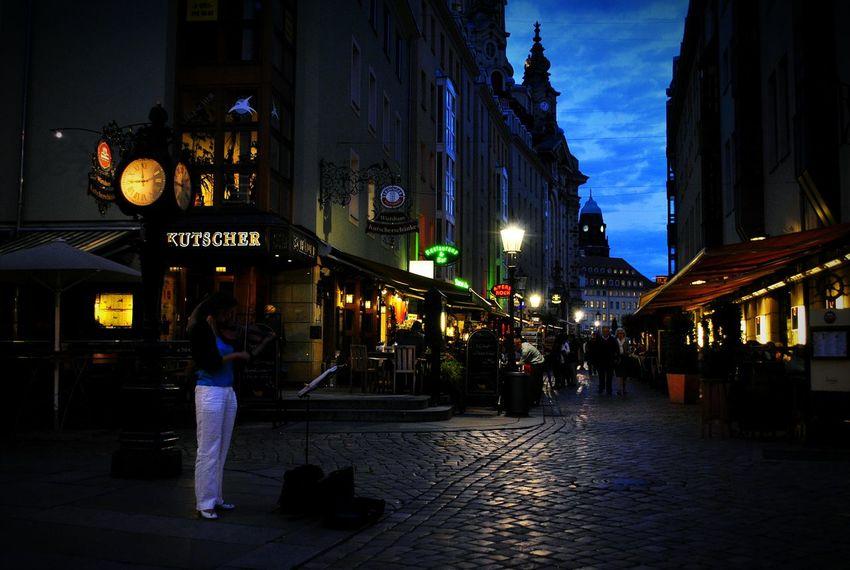 Germany Drezden Огни вечернего Дрездена