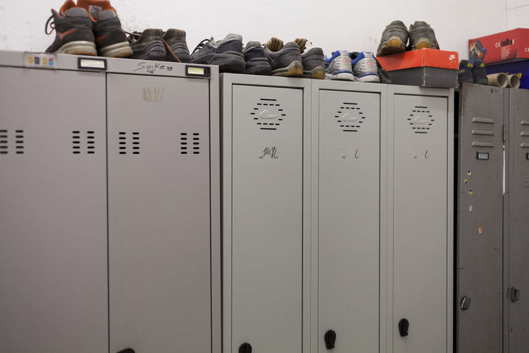 Shoes On Lockers