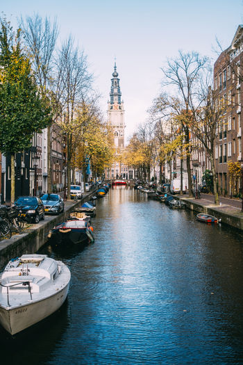 Amsterdam Netherlands Canal Water City Outdoors Waterfront Boats