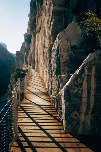 "The ""Caminito del Rey"" was the most dangerous hiking trail in the world El Chorro Hiking Rock Beauty In Nature Caminito Del Rey Climbing Dangerous Day Hiking Trail Mountain Mountain Hiking Mountains Nature No People Outdoors Rock Climbing Sky The Way Forward Tranquility"