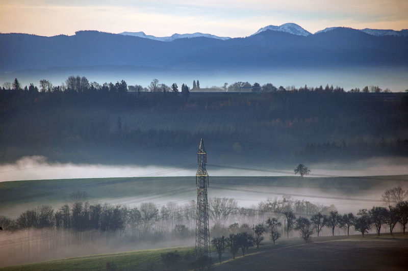Strengberge Hügelland, Nebel hebt sich Berge Österreichs Stimmungsbild Hofi Mostviertel Nebel Niederösterreich Silhouette Beauty In Nature Cloud - Sky Fog Landscape Mist Mountain Range No People Obstbaumallee Outdoors Schönes Österreich Tranquil Scene Eye4photography  Tranquility Best Shots Hofi Hofis Landschaften Hofis Premium Collection