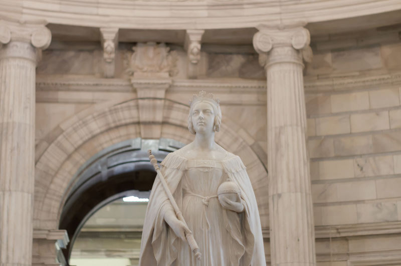Low angle view of statue of historical building