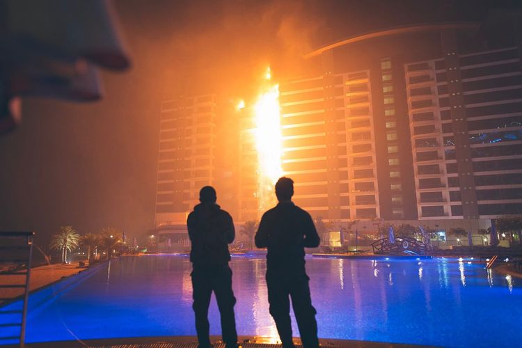 The Photojournalist - 2017 EyeEm Awards Dubai Fire. Dubai Fire Done That.