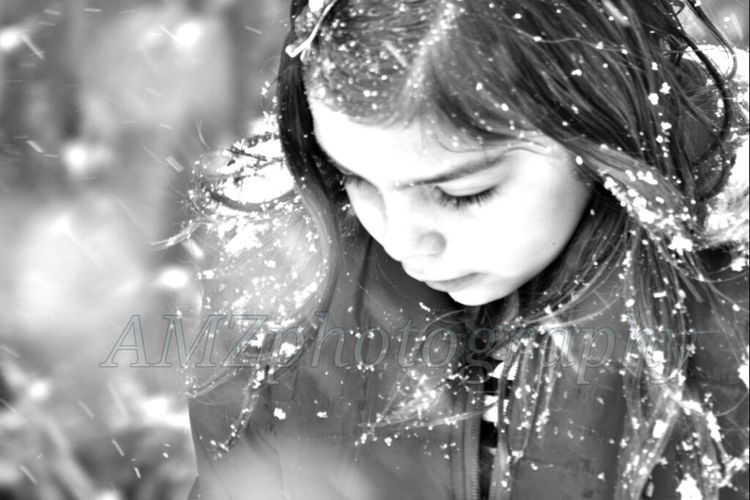 My munchkin. 1of the hundreds of pics past Xmas. Black And White Family Snow Children Photography My Daughter Up Close And Personal
