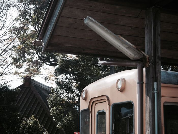 小湊鉄道 上総中野 Built Structure Low Angle View No People Architecture Building Exterior Outdoors Day Tree