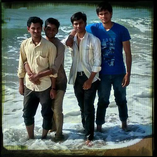 Me and my friends at chennai beach.....
