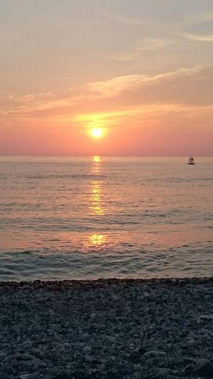 Hualien sunrise at 4am Nature Ocean Sunrise Pink And Orange Rocks