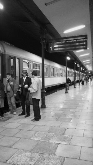 Athens, Greece Athens Train Station Night Lights Reflections Platform Riding The Train Train Ticket Ticketmaster Ticket People Boarding Public Transportation Urbanexploration Black&white Blackandwhite Photography Black & White Black And White Blackandwhite Urban Exploration