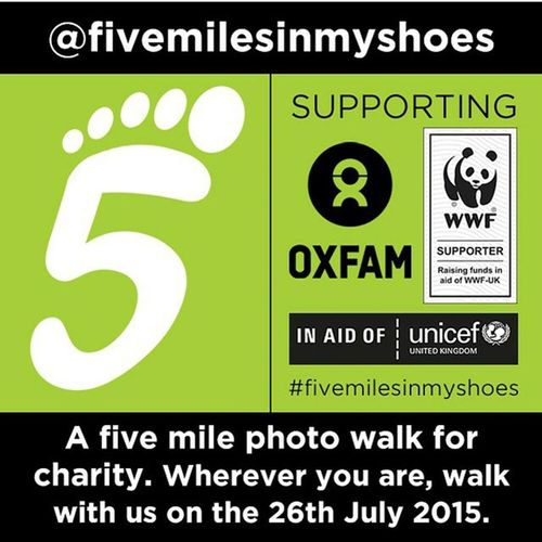 A few of us wanted to make something happen on @instagram to support good causes. On Sunday 26th July, we'll be doing a sponsored photo walk of five miles in aid of Oxfam, WWF and UNICEF and sharing pictures and stories of it. We would love it if as many of you as possible could join us, and raise money and awareness of these worthy causes too. There'll be an organised walk in London but you can do it wherever you are, as part of another organised walk or on your own, all you have to do is. For FULL DETAILS (including sponsorship details) Please go to @fivemilesinmyshoes and follow the @stellerstories link in our bio. We would be massively grateful if you could help us spread the word, please simply screen grab this picture and share it, tagging @fivemilesinmyshoes / Fivemilesinmyshoes