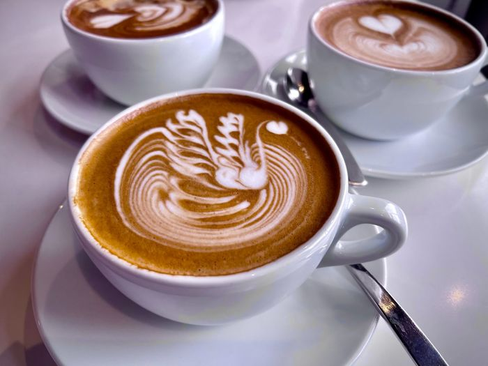 Coffee cup with cappuccino