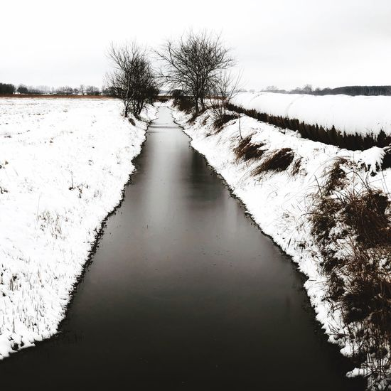 Silent Landscape No People Tadaa Community Snow Nature Silence Winter Usedom Mecklenburg-Vorpommern Water Landscape