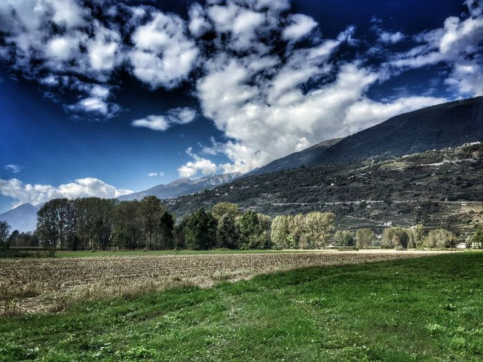 Cloud - Sky Nature Tranquility Field Valtellina
