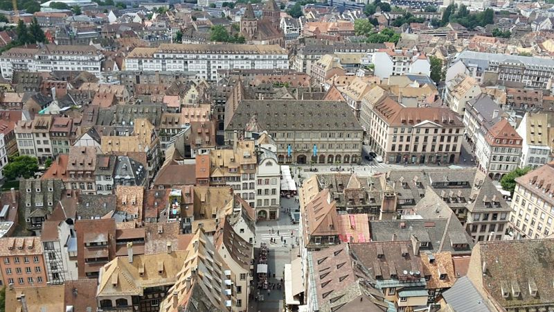 Strasbourg Strasbourg Alsace Elsass Artchitecture Cityscape City Aerial View Travel Destinations High Angle View Travel Architecture History Building Exterior Outdoors Downtown District Urban Skyline Day No People Landscapes