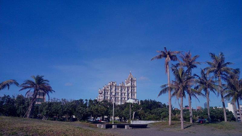 Church Architecture Coconut Trees Clear Sky Sky Outdoors Architecture Building Exterior Beach Beauty In Nature