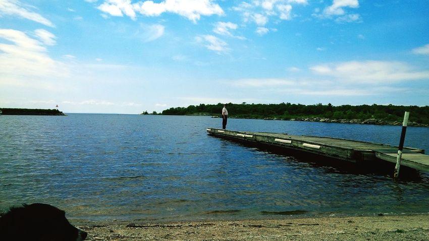 Beautiful day at a Marina on Lake Huron 👊 Freedom POV Of Dee Northern Ontario Docks Lake Huron Water Capturing Freedom