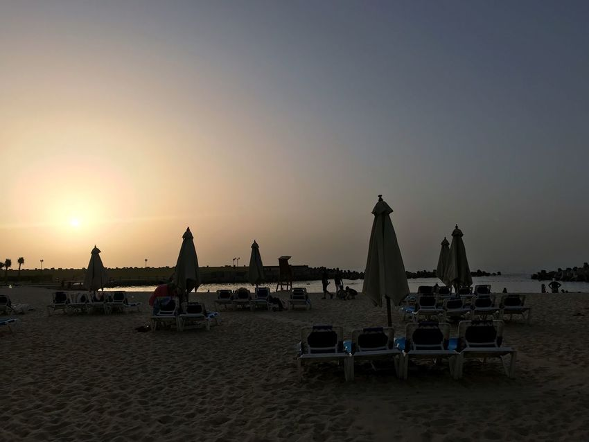 Alexandria Egypt Egypt Sky Beach Land Water Sunset Sea Nature Clear Sky Real People Scenics - Nature Outdoors Beauty In Nature Sand