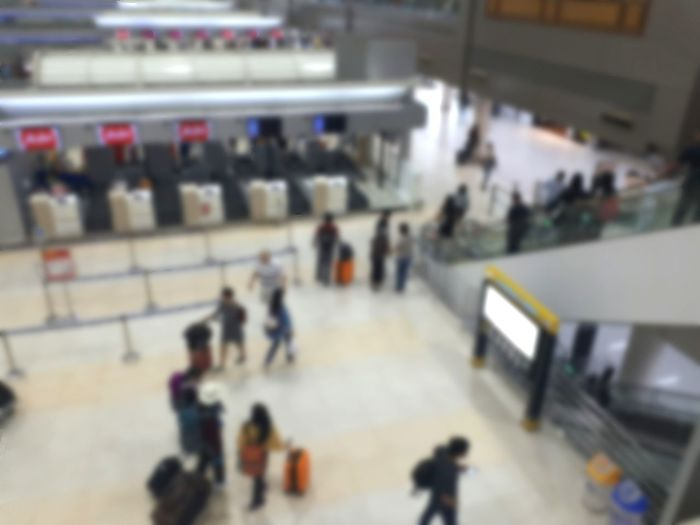 Peoples traveling in airports, Blur background Travel Tourism Background Lifestyle People Holiday Summer Weekend Plant Traveling Crowd Ice Rink Supermarket Incidental People High Angle View Close-up Airport Check-in Counter Airplane Ticket Passport Airport Runway Airport Runway Boarding Airport Terminal Ticket Airport Departure Area Passenger Boarding Bridge Cabin Crew Arrival Departure Board Waiting In Line