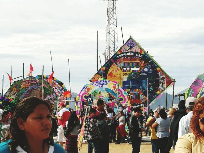 Giant Kites Multi Colored Celebration People